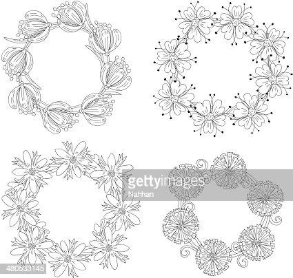 wreaths floreale : Arte vettoriale