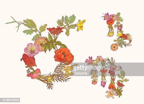 Floral Sternzeichen Taurus Jungfrau Capricornus Element Erde