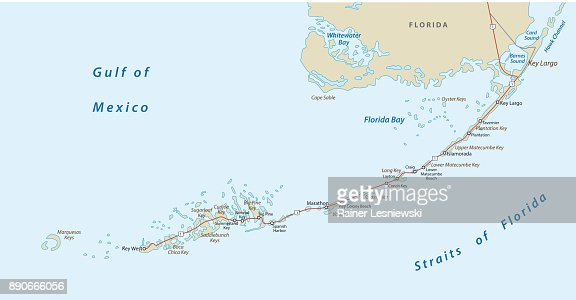 Map Florida Keys.Florida Keys Road Map Vector Art Thinkstock