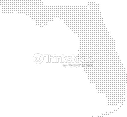 Florida Map Dots Vector Outline Dotted Map Point Patterns Map Faded