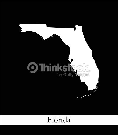 Usa Map Florida State.Florida State Of Usa Map Vector Outline Illustration Black And White