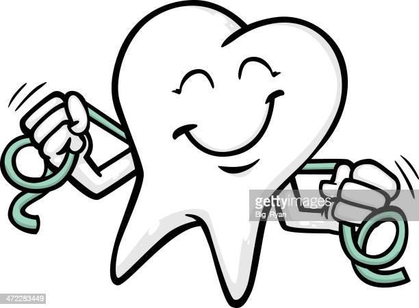 flossing dientes