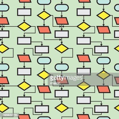 flow chart or block diagram seamless vector illustration. Black Bedroom Furniture Sets. Home Design Ideas