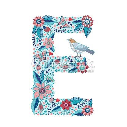Flower alphabet letter e vector art thinkstock flower alphabet letter e vector art altavistaventures Images