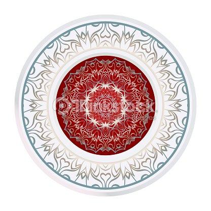 Modele Fleur Coloriage.Mandala De Coloriage Fleur Elements Vectoriels Decoratifs Motif