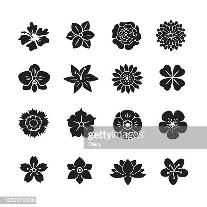 Flower icon set : Vector Art