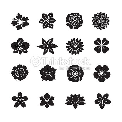 Flower icon set : stock vector