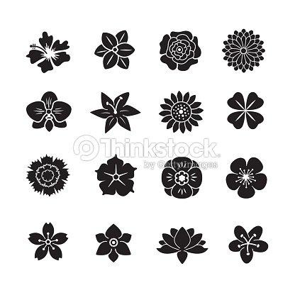 花のアイコンを設定します : ベクトルアート