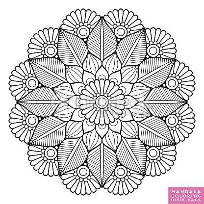 Mandala De La Flor Elementos Decorativos Vintage Modelo Oriental ...