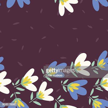 Flower pattern. Spring vector hand-drawn doodle : Vectorkunst