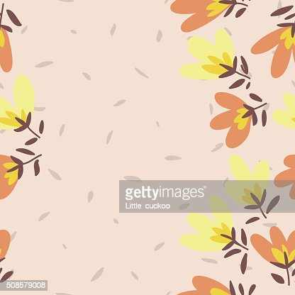 Flower pattern. Spring vector hand-drawn doodle : Vectorkunst