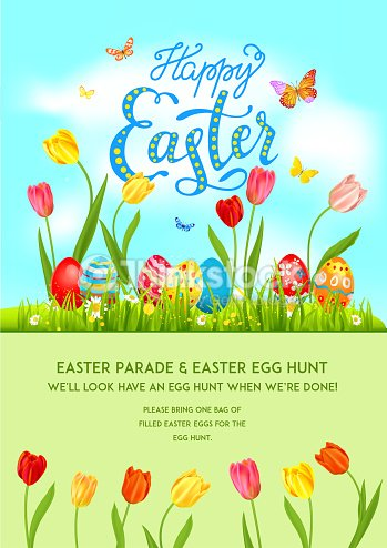 Flower Poster holiday Easter
