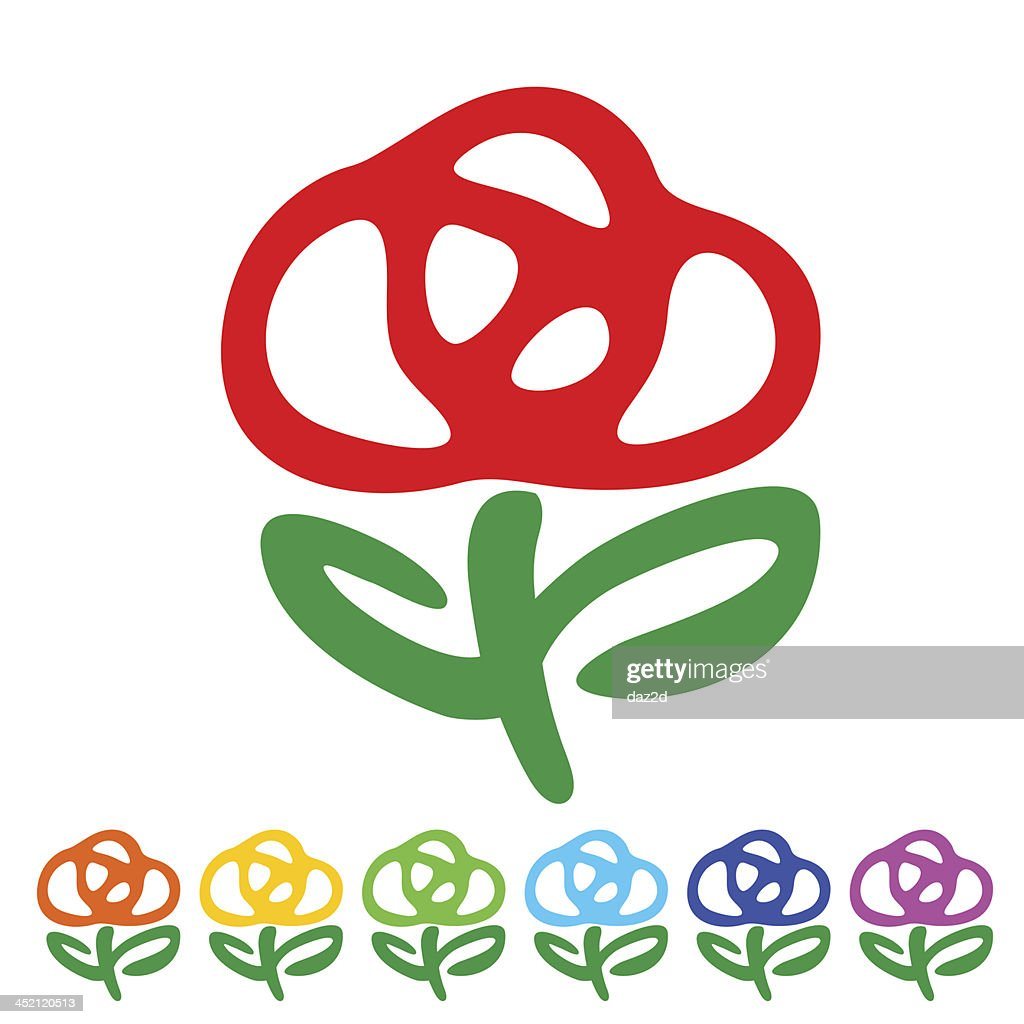 Flower Symbol Vector Art