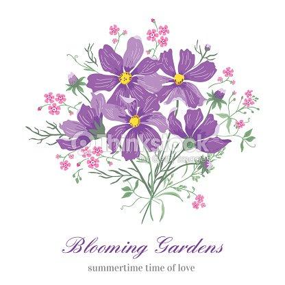 Blumen Auf Einem Weißen Hintergrund Vektorgrafik   Thinkstock
