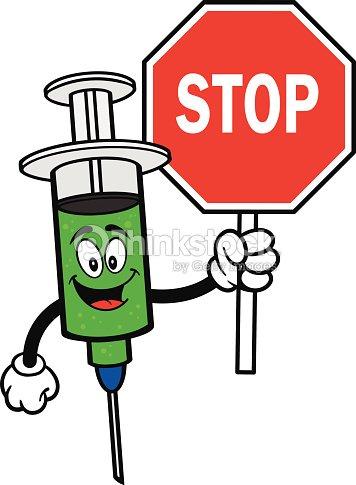Grippe avec panneau stop clipart vectoriel thinkstock - Prix d un panneau stop ...