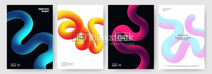 fluid shape background abstract liquid shapes for poster brochure