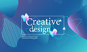 Fluid shapes composition. Wavy abstract cover design. Creative colorful wallpaper. Trendy gradient poster. Vector illustration.