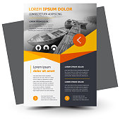 Flyer brochure design, business flyer size A4 template, creative leaflet, trend cover, yellow color