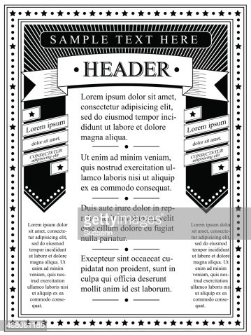 Flyer Template Monochrome Vector Art  Thinkstock