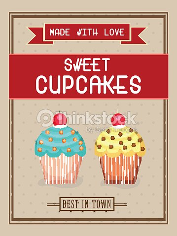 flyer template or brochure for cupcakes vector art thinkstock