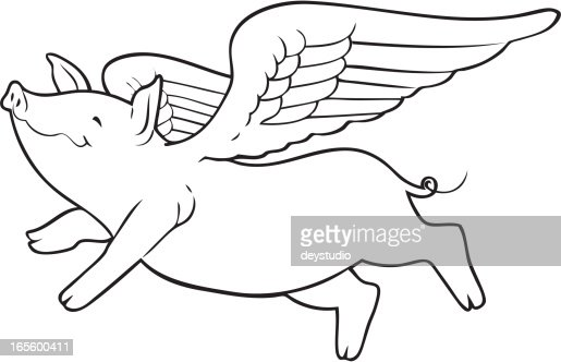 When Pigs Fly Vector Art