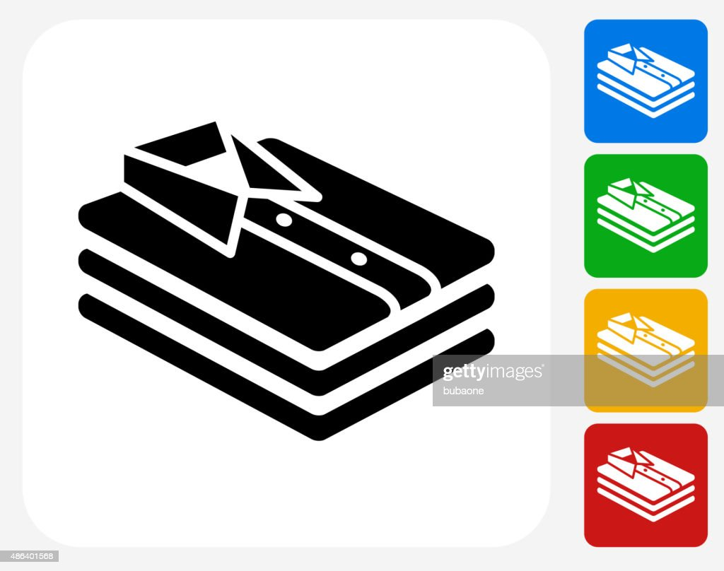 folded clothes icon flat graphic design vector art getty