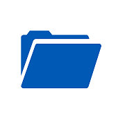 Folder flat icon – vector illustration