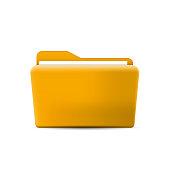 Folder icon. Flat design graphic illustration. Vector folder icon