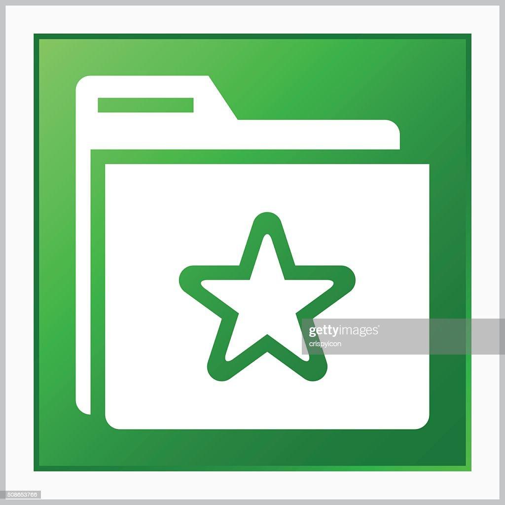 Folder icon on a square button. - FlatSeries : Vector Art
