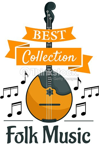 Folk Music Symbol With Ethnic Musical Instrument Vector Art Thinkstock