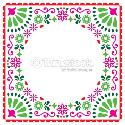Folk vector greeting card mexican style wedding or party invitation folk vector greeting card mexican style wedding or party invitation floral pink and green stopboris Image collections