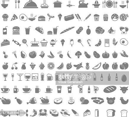 Icone di cibo e bevande : Arte vettoriale