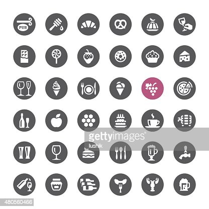 Food and Drink vector icons : Vector Art