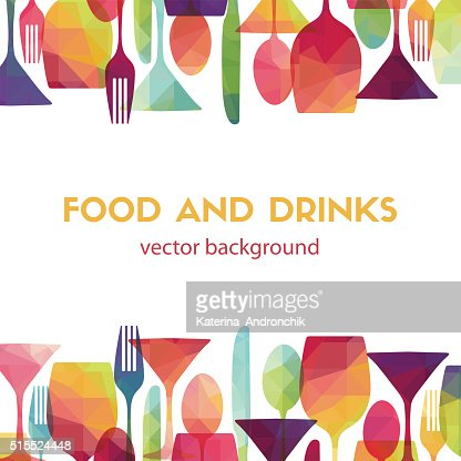 Food and drinks. Vector illustration : Vector Art