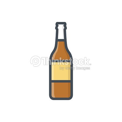 Food Drinks Colored Icon Beer Bottle