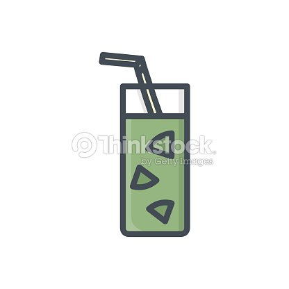 Food Drinks Colored Icon Cocktail