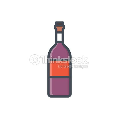 Food Drinks Colored Icon Wine Bottle