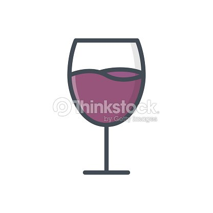 Food Drinks Colored Icon Wine glasses