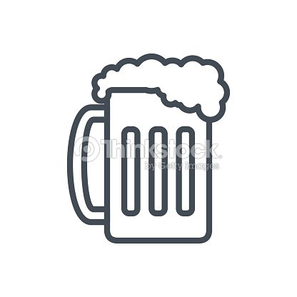 Food Drinks Line Icon Beer Goblet