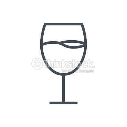 Food Drinks Line Icon Wine glasses
