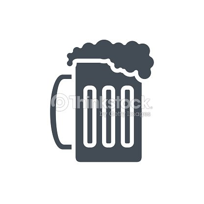 Food Drinks Silhouette Icon Beer Goblet