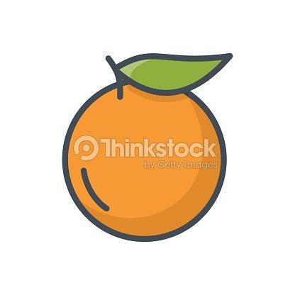 Food Fruits Colored Icon Orange