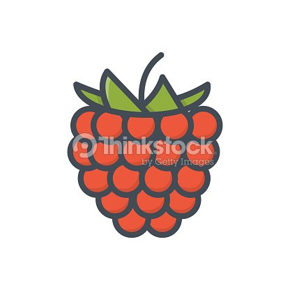 Food Fruits Colored Icon Rusberry