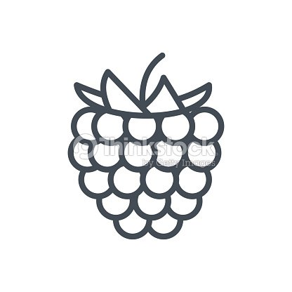 Food Fruits Line Icon Rusberry