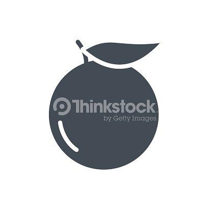 Food Fruits Silhouette Icon Orange