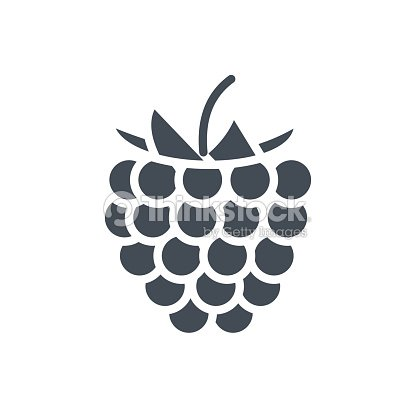 Food Fruits Silhouette Icon Rusberry