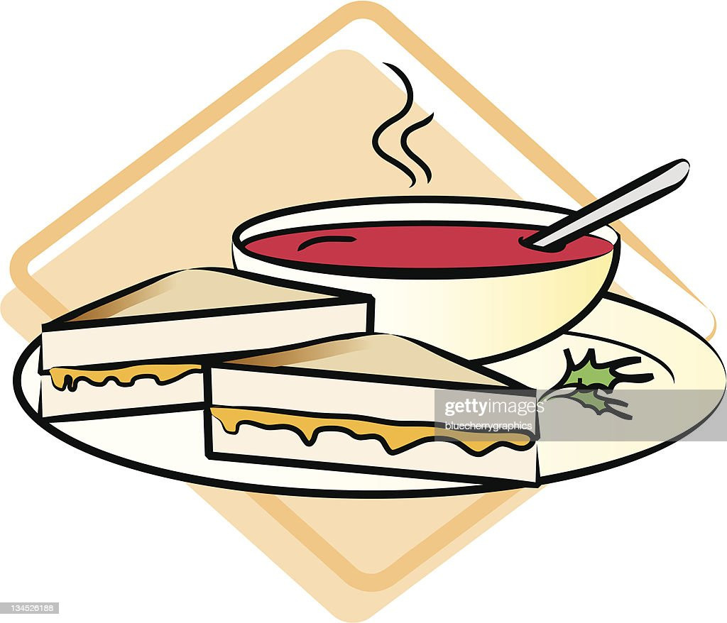 food grilled cheese sandwich and tomato soup vector art thinkstock rh thinkstockphotos com national grilled cheese day clipart
