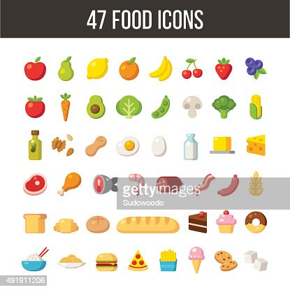 Food icons : stock vector