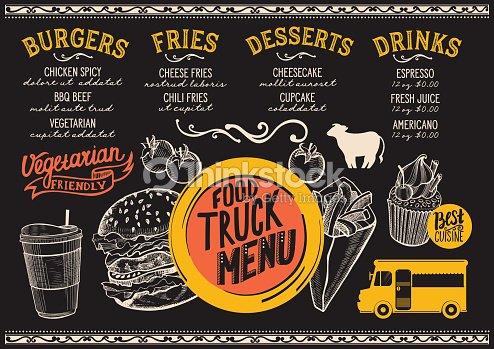 food truck menu template vector art thinkstock