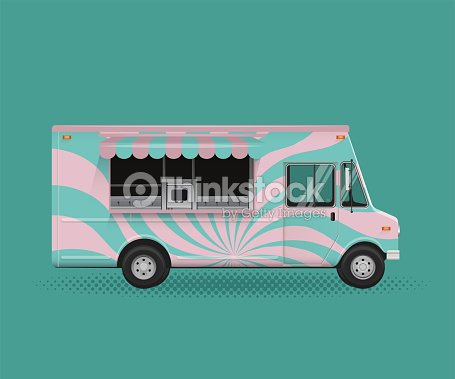 Food Truck Vector Ilration Poster Flyer Template